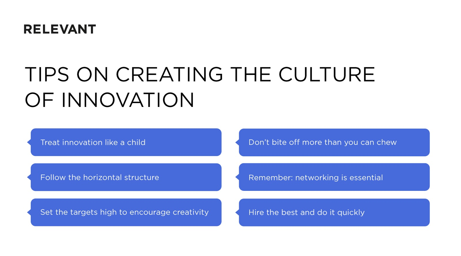 creating the culture of innovation